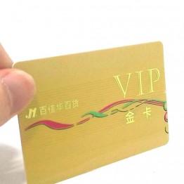 RFID пластиковая карта с золотым горячим тиснением